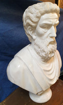 "SCULPTURE ""BUST OF A ROMAN SENATOR"", marble - Vintage Clock Face"