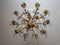 EFFECTIVE LARGE 15-CANDLES CHANDELIER METAL AND CRYSTAL - Vintage Clock Face