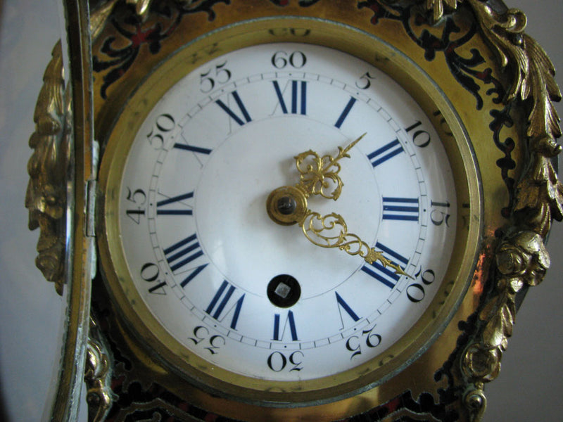 DECORATIONAL MANTEL CLOCK IN BOULLE STYLE - Vintage Clock Face