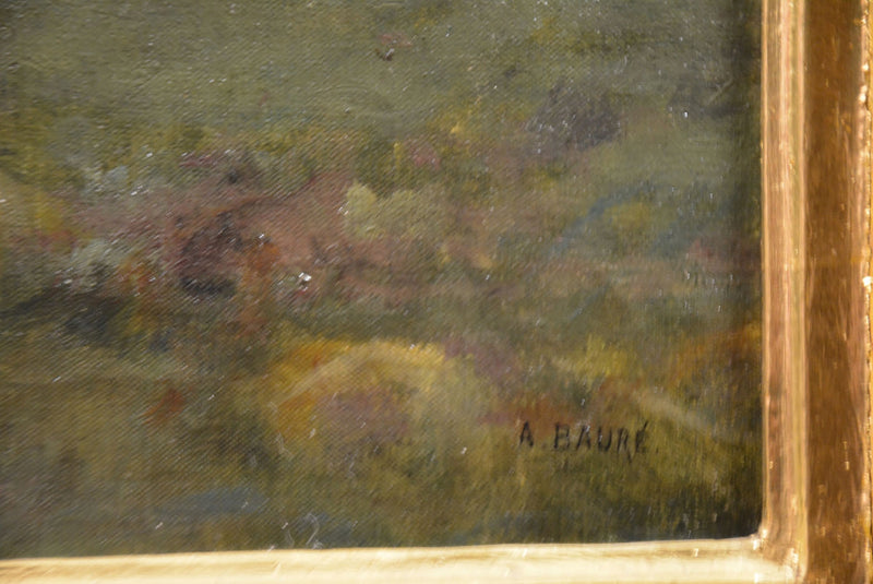 Original Painting Albert Baure - Vintage Clock Face