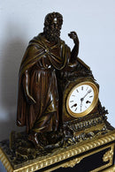 Fine French Empire Bronze Antique Mantel Clock by Honoré Pons, circa 1827 - Vintage Clock Face