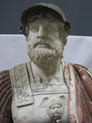 "THE STRUCTURE "" THE BUST OF AN ANCIENT CHIEFTAIN"", natural size, 5 species of marble - Vintage Clock Face"