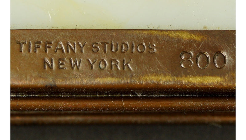 Tiffany & Co. Studios New York 7 Piece Bronze Desk Set - Vintage Clock Face