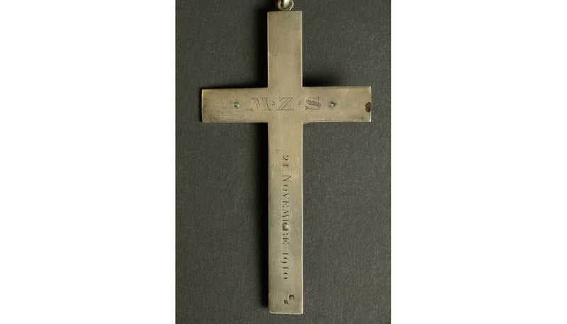 Silver Crucifix France circa 1910 - Vintage Clock Face
