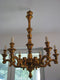 VERY INTERESTING ROCOCO CHANDELIER - GILDED WOOD - Vintage Clock Face