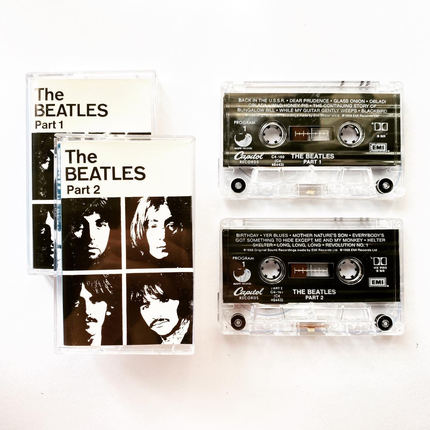 The Beatles ‎– The Beatles Part 1 & Part 2 ( x2 Cassette Tapes)