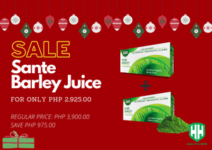 BUY 1 GET 1 50% OFF PROMO Sante Barley Juice