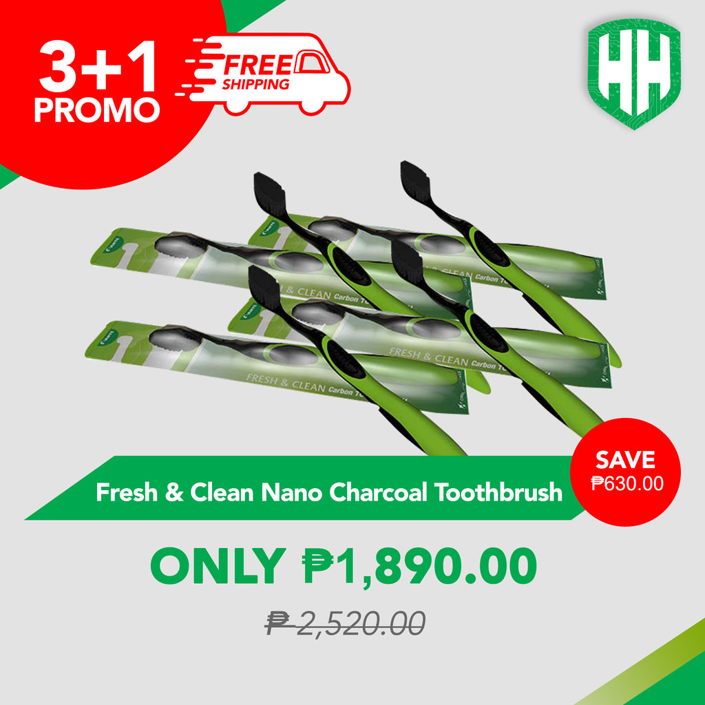 3+1 Fresh & Clean Nano Charcoal Toothbrush