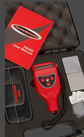 FS502 Industrial Coating Thickness Gauge in Case with Accessories
