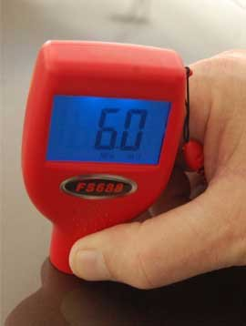FS688 Auto Auction Paint Meter in Use