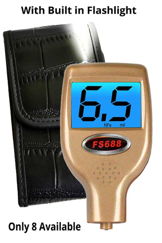 FS688 Collectors Edition Paint Thickness Meter with Built in Flashlight and Crocodile Holster