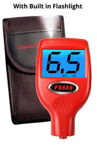 FS 688X Paint Thickness Meter Gauge with Built-In Flashlight for Car Dealers and Auto Auctions