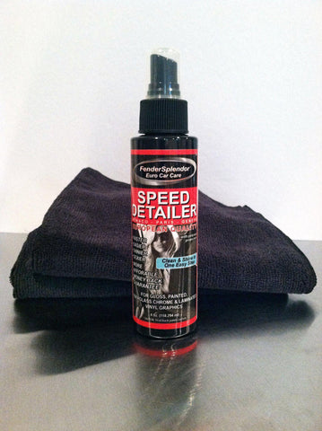 Euro Car Care Speed Detailer and Microfiber Towels from FenderSplendor