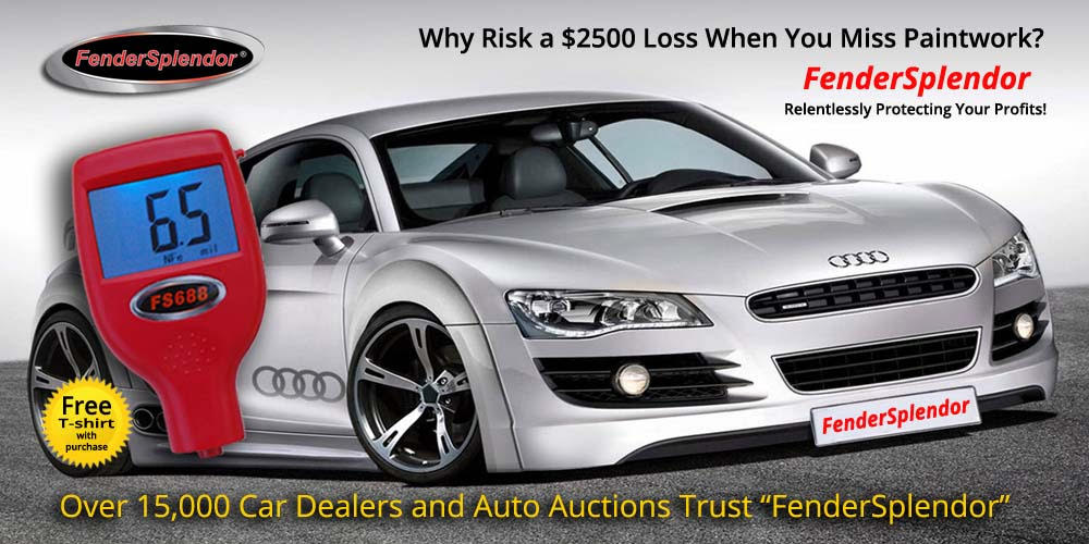 Why risk a $2500 loss when you miss paintwork? Over 15,000 Car Dealers and Auto Auctions Trust FendorSplendor to protect their profits.