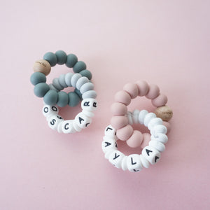 Personalized Duo Chew | Double Ring Teether