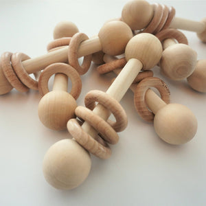 Back to Basics Wooden Rattle
