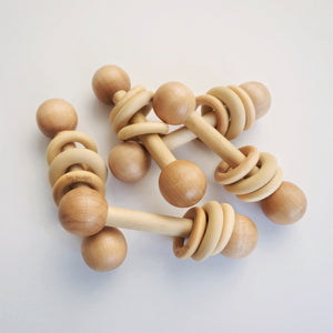 Hybrid Rattle | Silicone & Wood Rattle