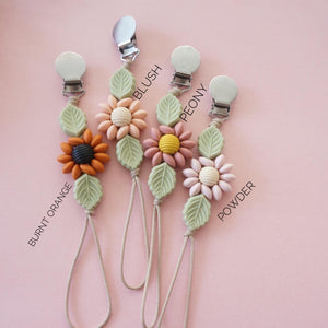 Wildflower Pacifier Clip