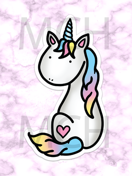 Unicorn Die cut