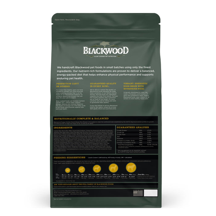Blackwood Puppy Food Growth Chicken & Brown Rice 6.80 Kg.