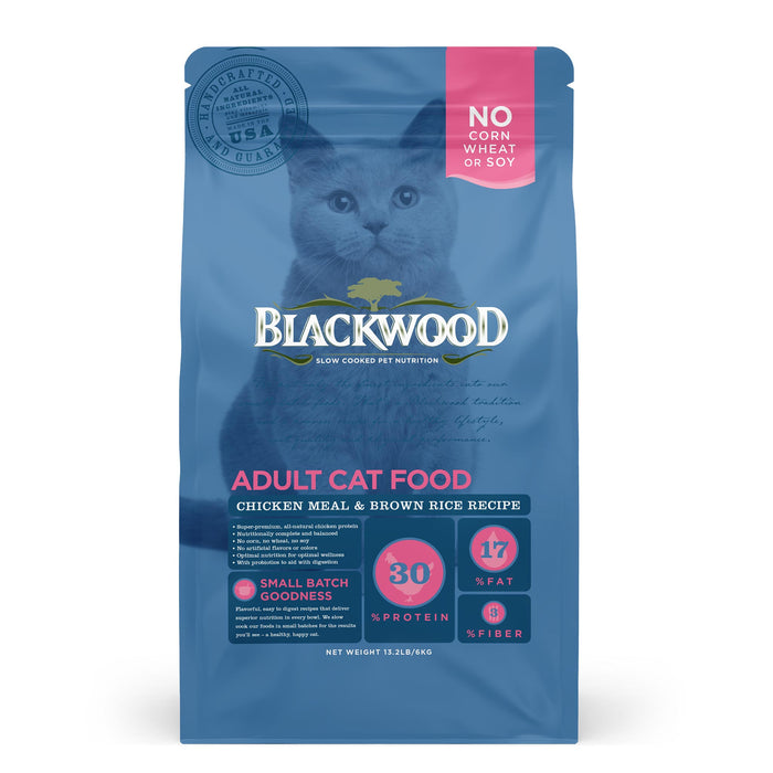 Blackwood Adult Cat Food Chicken & Brown Rice 6 Kg.