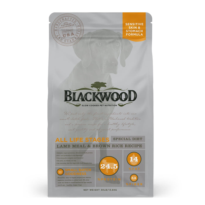 Blackwood All Life Stages Special Diet Lamb Meal & Brown Rice Recipe 13.61 Kg.