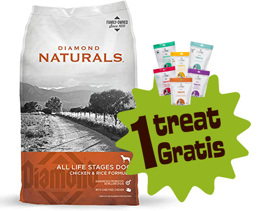 Diamond Naturals Chicken & Rice 6 lbs (2.724 Kg.) + 1 Treat Nupec Gratis