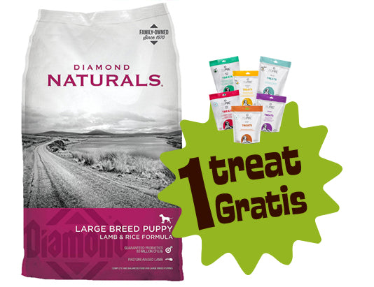 Diamond Naturals Large Breed Puppy 6 lbs (2.724 Kg) + 1 Treat Nupec Gratis
