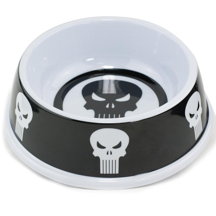 Buckle-Down Plato para Comida de melamina, Personaje de Punisher, color Negro/Blanco (16oz)