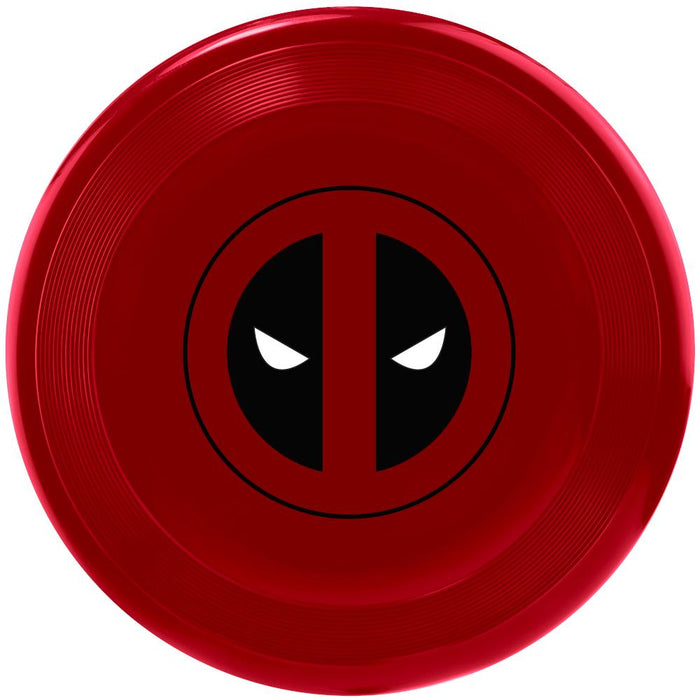 Juguete Buckle-Down Frisbee, con Escudo/Logo de Deadpool, Color Rojo/Negro/Blanco