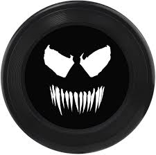 Juguete Buckle-Down Frisbee, con Venom Face, Color Negro/Gris/Blanco