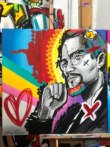 Brother Malcolm – Original Acrylic on Canvas 24x24