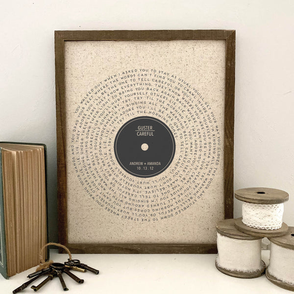 Vinyl Record Favorite Song Lyrics