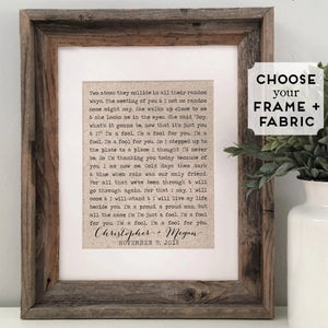 Rustic Typewriter-Styled First Dance Lyrics