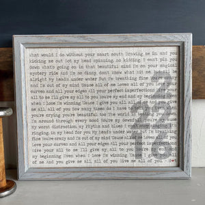 Rustic Wedding Vows - Song Lyrics