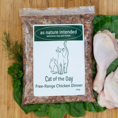 Cat of the Day Free-range Chicken Dinner raw