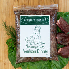 Give a Dog a Bone Venison Dinner raw food