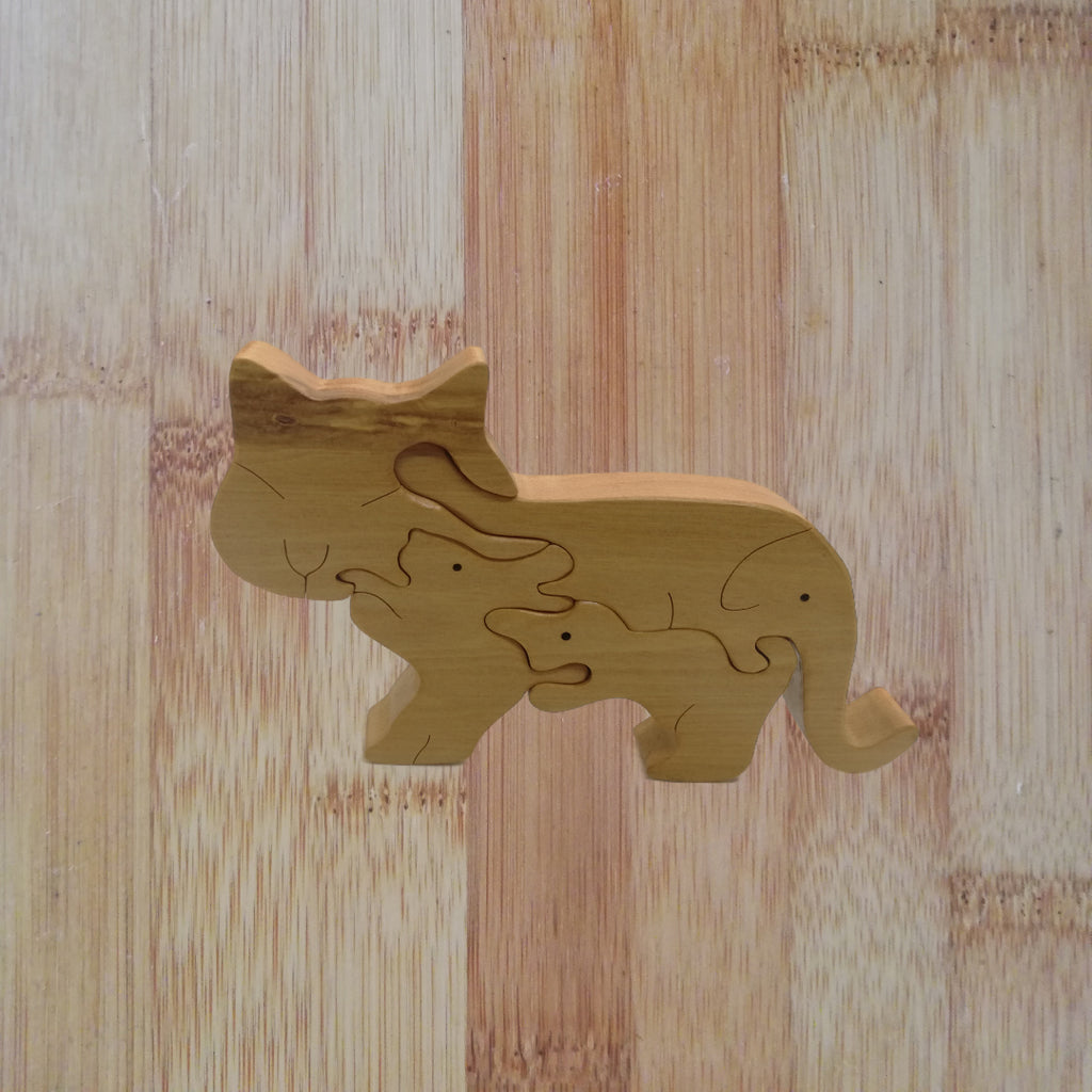 Cats and Friends: handmade wooden puzzle
