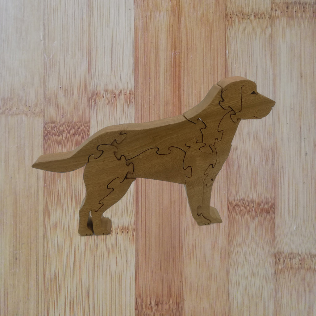 Labrador (standing): handmade wooden puzzle