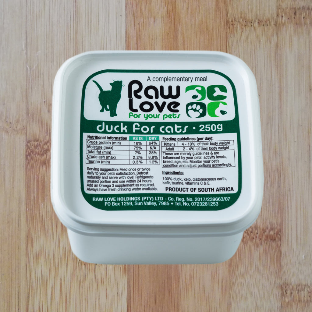 raw love duck for cats raw food