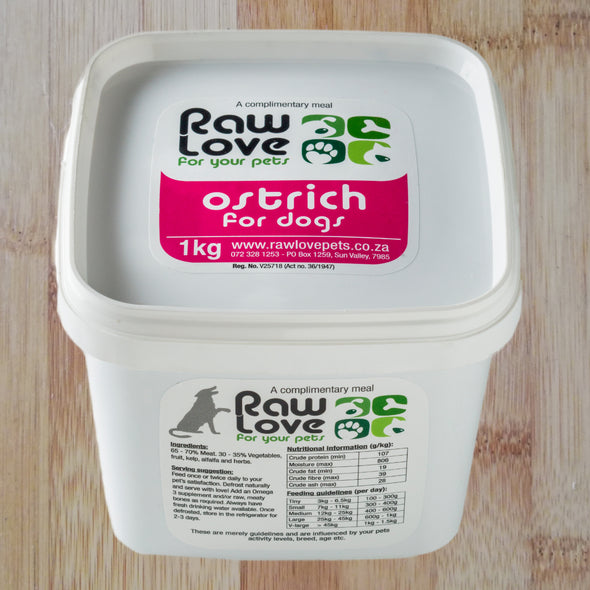 Ostrich for Dogs: 500g-1kg