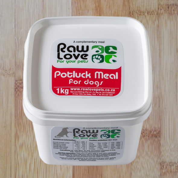 Potluck for Dogs: 500g-1kg