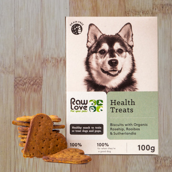 Health Treats raw love dog biscuits
