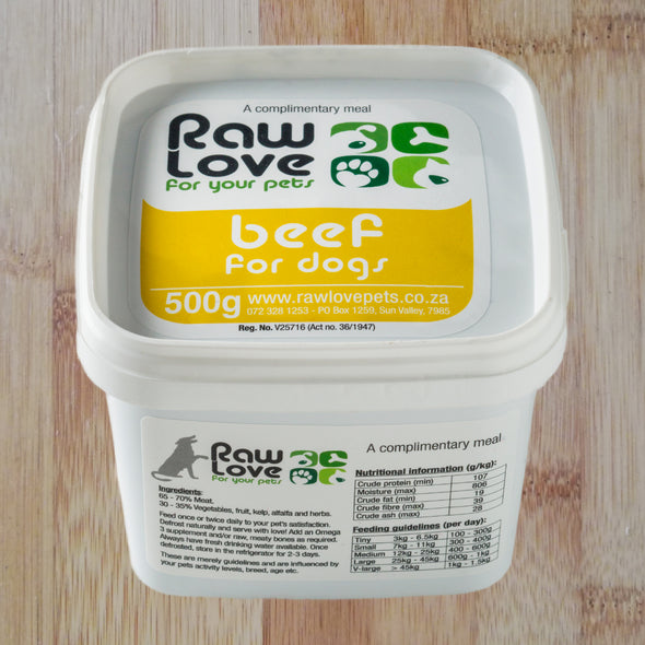 Raw Love Beef for Dogs