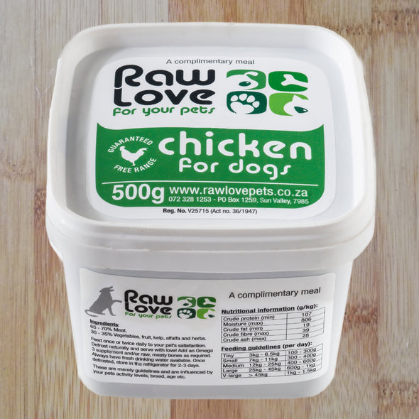 Raw Love Chicken for Dogs