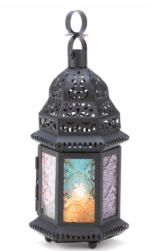 Hanging Magic Rainbow Candle Lantern