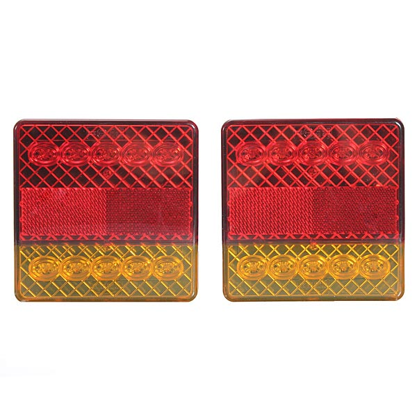 2x 10LED Trailer Truck Ute Stop Rear Tail Indicator Light E-Marked