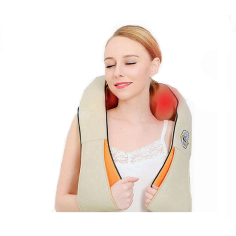 Shiatsu Deep Tissue Kneading Massage Pillow Infrared Heating