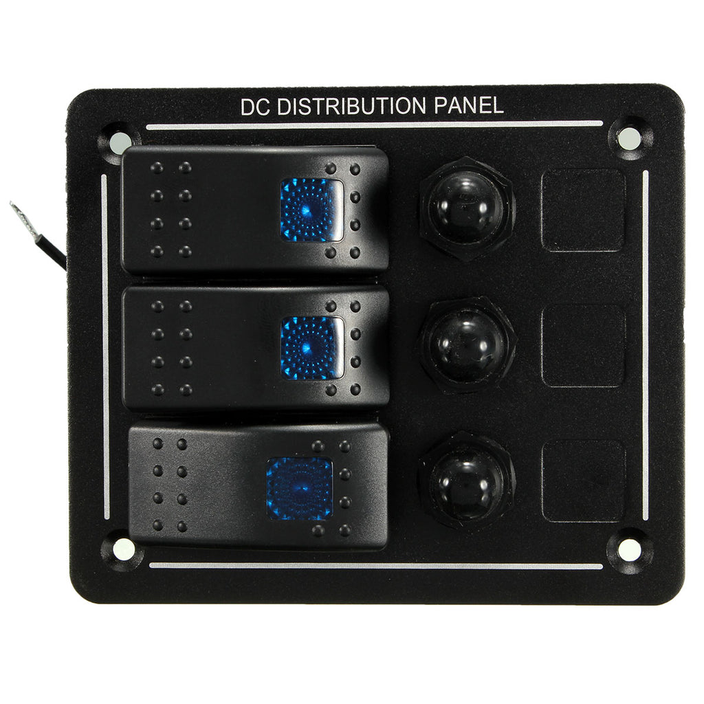 12V 24V Waterproof Aluminum LED Rocker Switch Panel Bracket