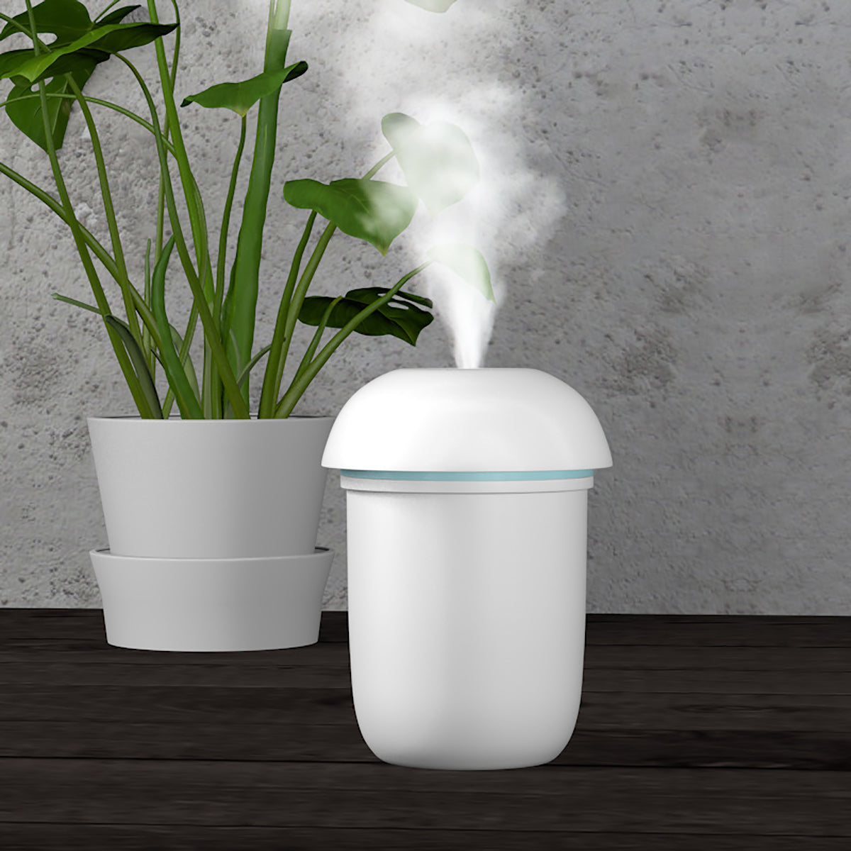 Minifier™ the Compact USB Powered Humidifierwith Seven LED Colors